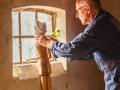 Piet Ritzema psyche voor raam